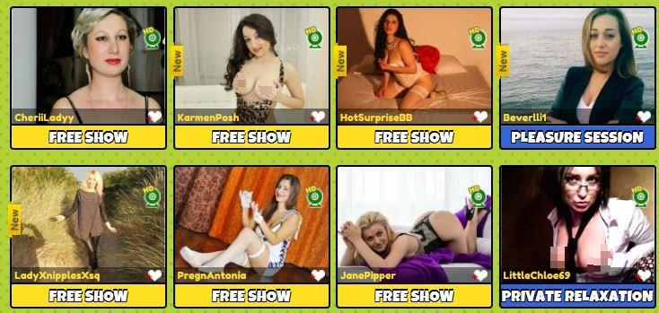 Gorgeous webcam models performing on live cams